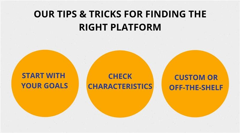 Finding the right platform