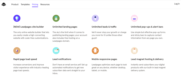 Lead Pages Funnel software