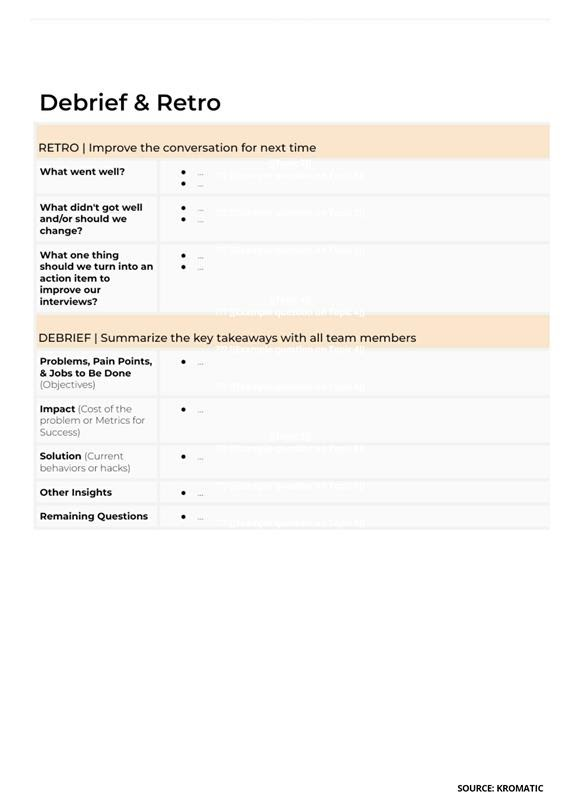 Customer Discovery Process Template