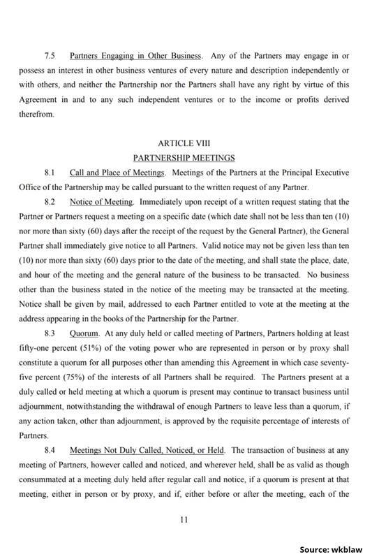 Limited Partnership Agreement-11