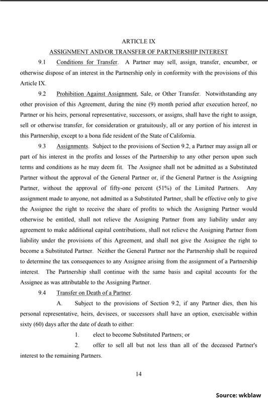Limited Partnership Agreement-14
