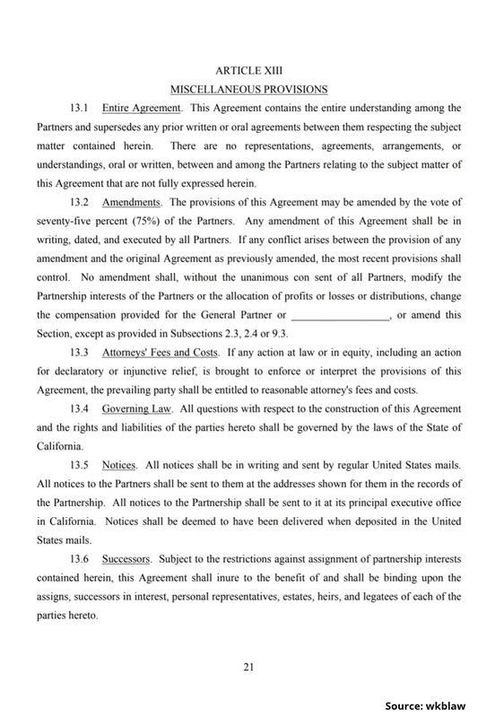 Limited Partnership Agreement-21