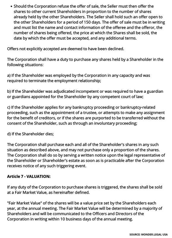 Shareholder Agreement Template-5