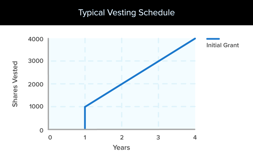 Typical Equity Vesting Schedule Template and Types