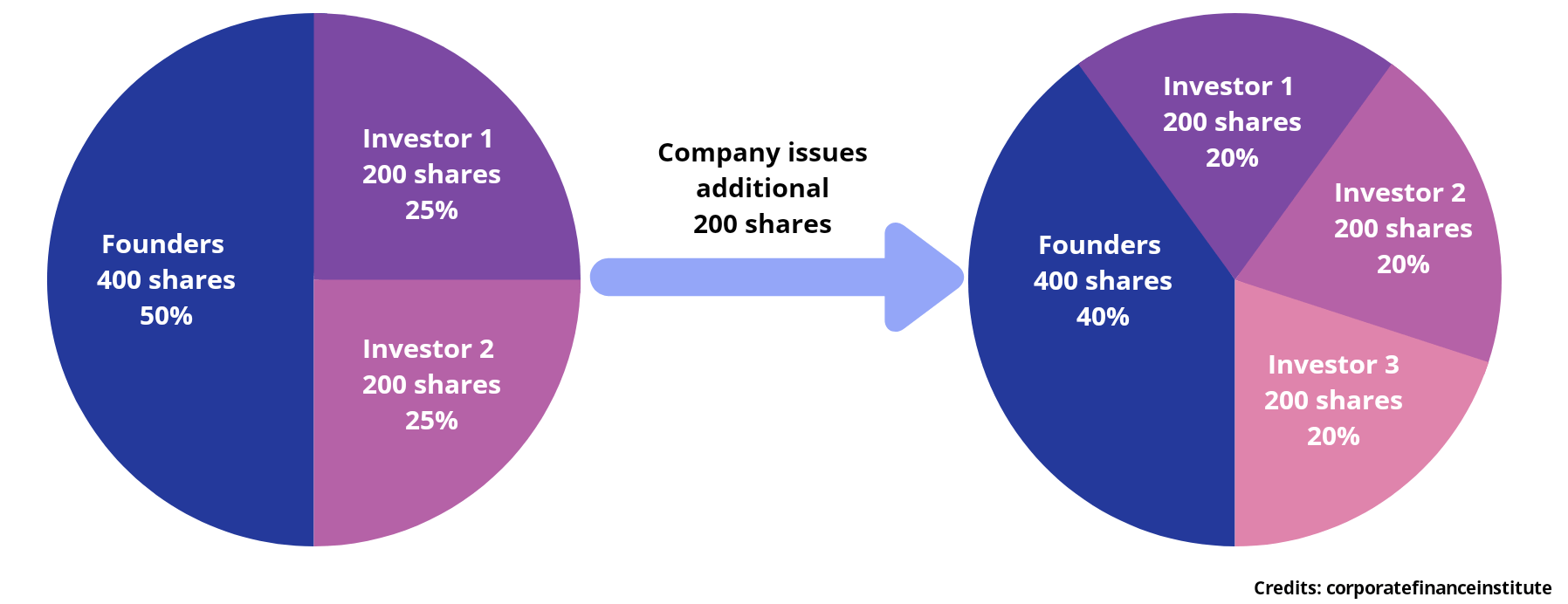 Share Dilution Pie